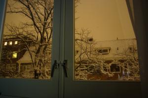 Uitzicht huiskamer sneeuw